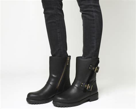 black biker boots ugg niels biker boots black leather ankle boots