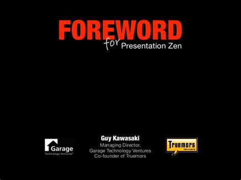Guy Kawasaki S Foreword For Presentation Zen Kawasaki Powerpoint Template