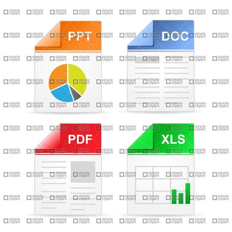 eps format in powerpoint filetype icons ppt doc pdf xls vector image 1657