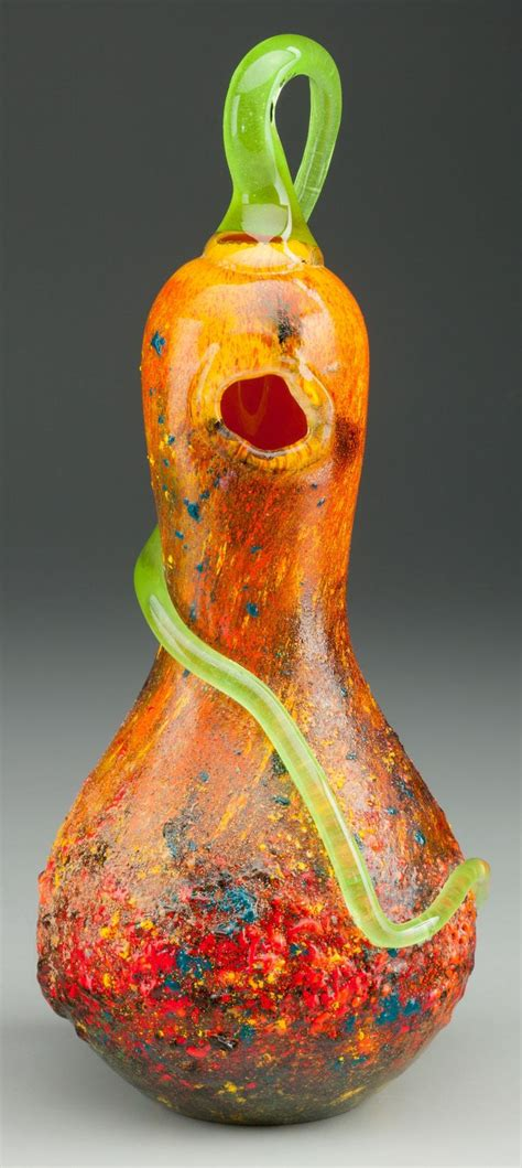 Glass Gourd L by Glass Daum Daum Vitrified And Applied Glass