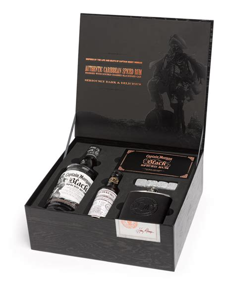 morgans spiced gift set captain black spiced rum the dieline packaging