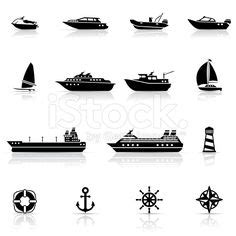 canal boat icon vector art canal boat silhouettes simple icons