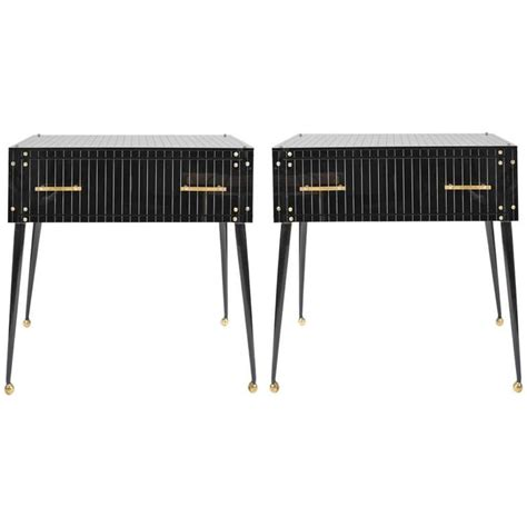 Black Glass Side Table 1970s Italian Black Glass Side Tables At 1stdibs