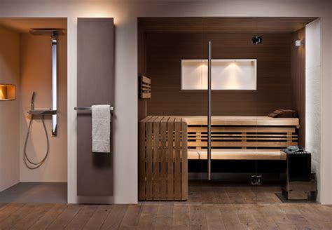 spa badezimmerdesign design sauna exklusive sauna mit glasfront corso sauna