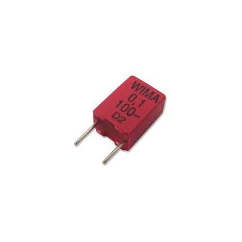 wima bypass capacitor mkp2d031001f00kssd wima capacitor 10 100nf 100v mkp2 ebay
