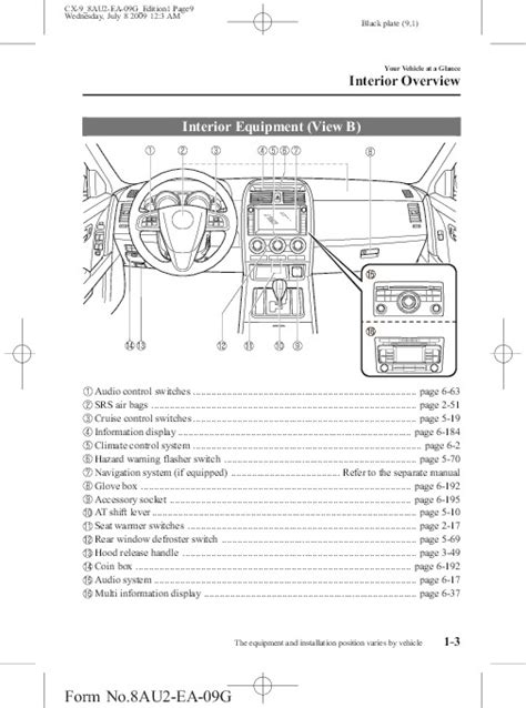 all car manuals free 2010 mazda cx 9 seat position control 2010 mazda cx 9 owners manual