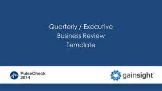 Business Review Templates Quarterly Business Review Template Qbr Template