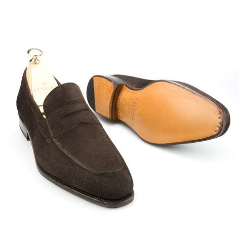carmina loafer loafers in brown suede carmina