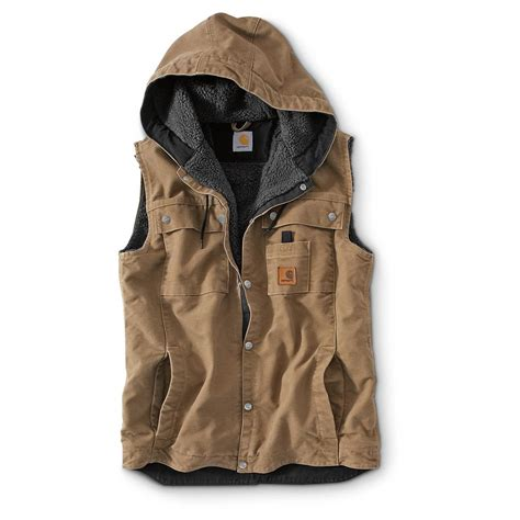 Hooded Vest carhartt sandstone hooded vest 642676 vests at