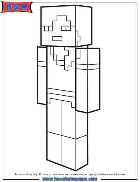 minecraft alex coloring page alex from minecraft coloring page h m coloring pages