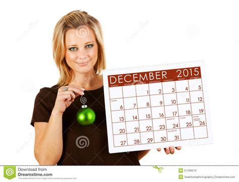 Calendar Holdings 2015 Calendar Holding December Ornament Stock