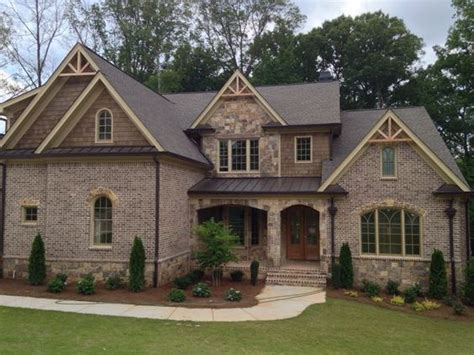 face brick house designs brick homes with stone accents marshton pine hall brick inc
