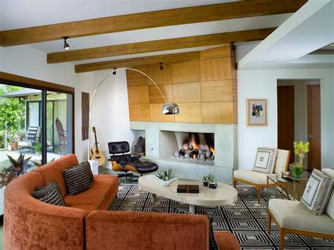 mid century modern living room hgtv