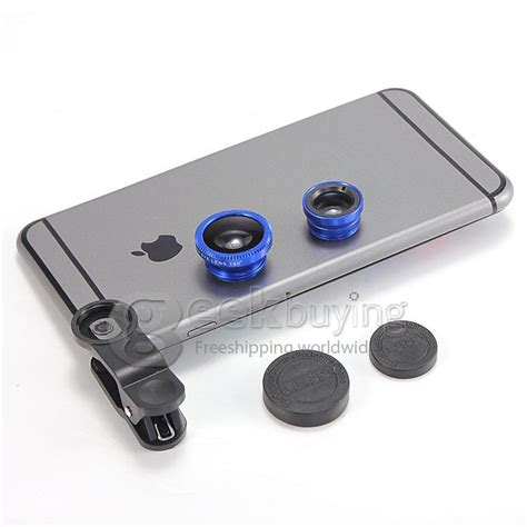 Lensa Blue Style 1 56 Blue Block Lens Limited universal 3in1 clip on fish eye wide angle macro lens for