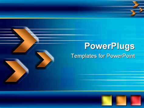 blue and orange powerpoint template orange arrows and shapes blue background business