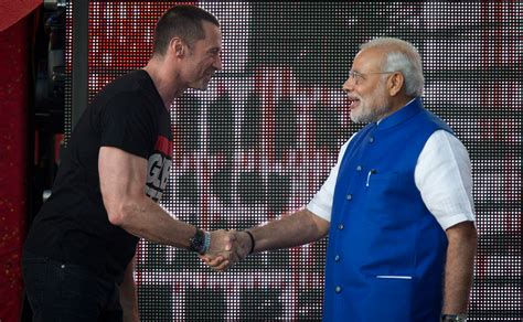 indian actor wolverine look who s hanging out with pm narendra modi it s hugh