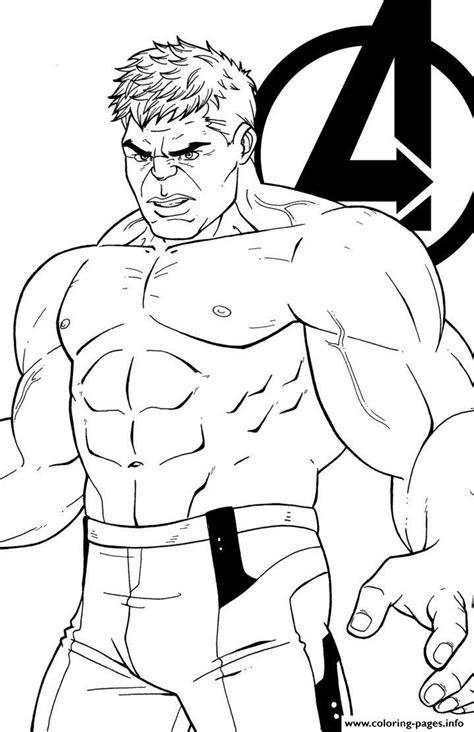 avengers endgame  hulk coloring pages printable