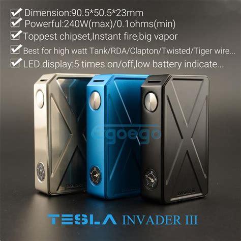 Tesla Invader Iii Tesla Invader 3 Authentic 1 tesla invader iii 240w box mod 100 original tesla invader 3 electronic cigarette in series fit