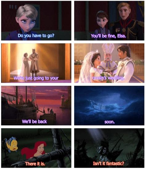 film theory elsa and rapunzel frozen tangled and little mermaid theory