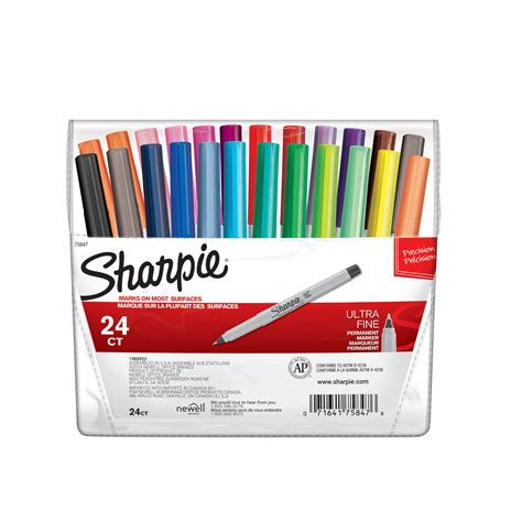 colored permanent markers sharpie ultra point permanent markers 24 pack