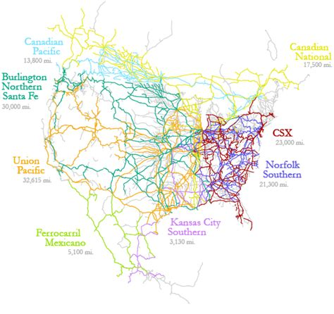 usa rail network map transportation in america
