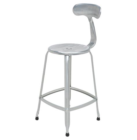 Galvanised Bar Stools by Ceaser Industrial Loft Galvanized Steel Outdoor Safe Counter Stool Pair Kathy Kuo Home