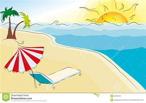 summer themed pictures summer themed beach illustration stock image image 29063641
