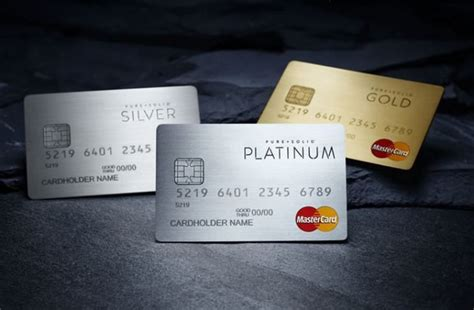 E Mastercard Gift Card - exclusive pure solid credit cards made from precious metals lux pursuits