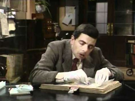 mr bean director s cut sketch 1 quot the library quot youtube