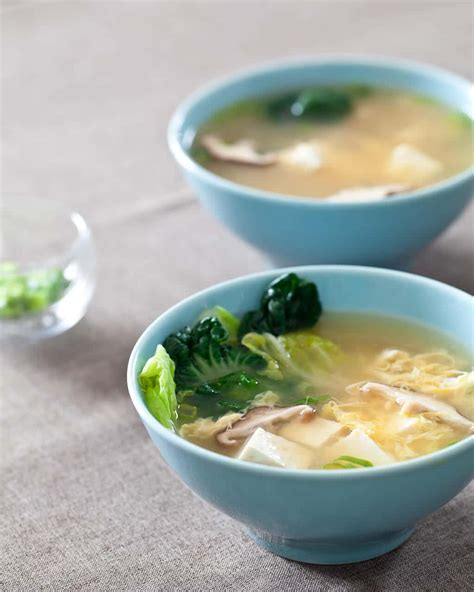 tofu and mushroom miso soup steamy kitchen recipes