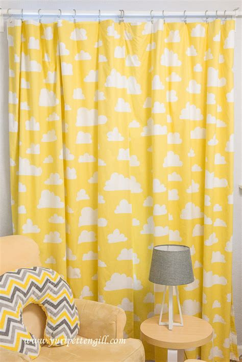 Cloud Themed Nursery For Baby Andrew Project Nursery Yellow And Grey Nursery Curtains