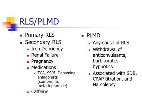 Rls Detoxing by Psychiatric Sequalae Of Sleep Disorders Ppt
