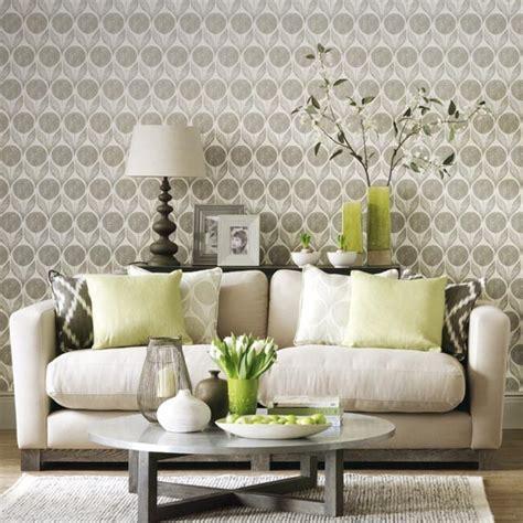 wallpaper livingroom statement wallpaper in a neutral living room simple