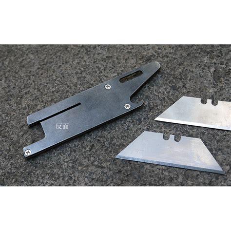 sharp tad pisau silet multifungsi edc 4 in 1 silver