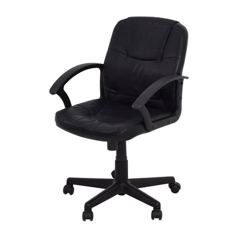 Black Leather Desk Chair by 75 Black Leather Adjustable Desk Chair Chairs