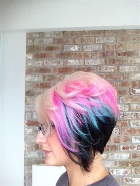 Multie Colored Bob Hair Styles | bob haircut styles with multi color long hairstyles