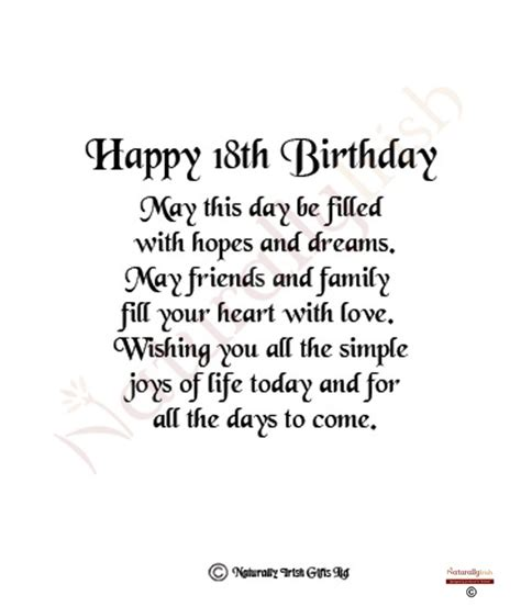 Quotes For 18th Birthday Daughters 18th Birthday Quotes Quotesgram