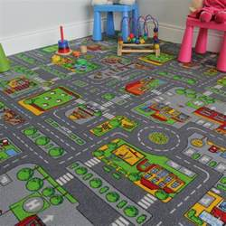 childs rug with roads children s play rug town roads mat kukoon