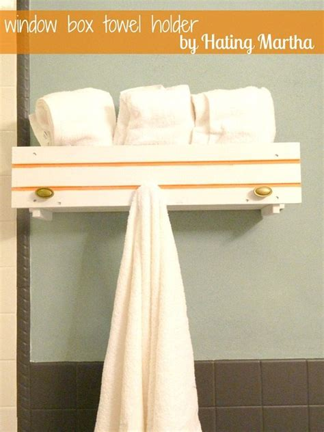 window box shelves and towel holder