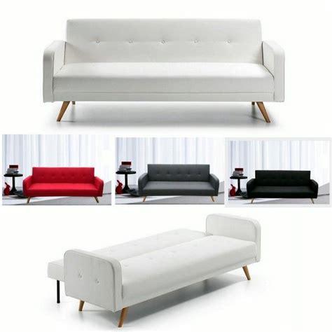 divano letto ecopelle bianco divano letto rodrigo 210x82x88 microfibra ecopelle bianco