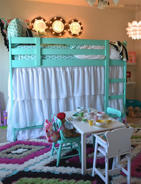 L Shape Curtain Rod Ikea Bunk Bed Hack Two Thirty Five Designs