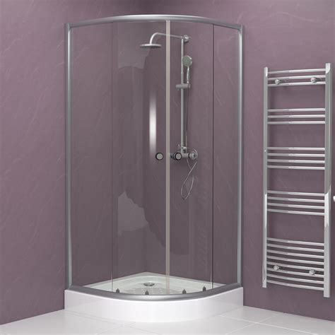 b q bathrooms shower cubicles quadrant shower enclosure white or silver 700 800 900mm ebay