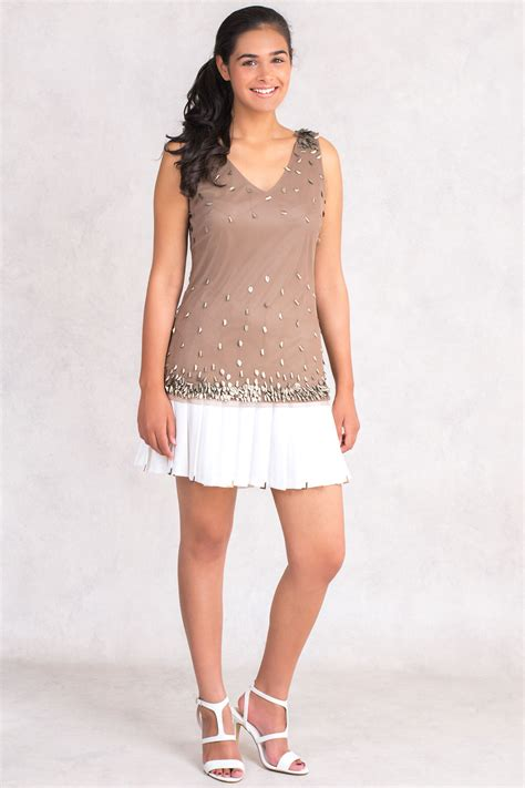 Top Batiquee Collection Size M nwt 225 italian designer siste s sequin top sizes xs s m l cocktail club ebay