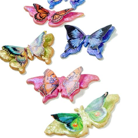 butterfly cookies made with wafer paper butterfly wafer paper cookies how to make flying