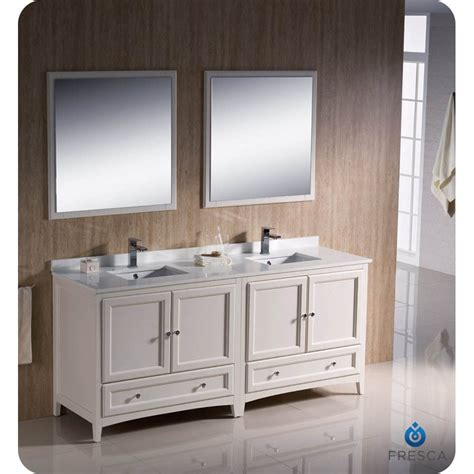 Bathroom Vanities With Two Sinks Rustic Fresca Oxford 72 Quot Traditional Sink Bathroom Vanity Antique White Reclaimed