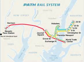 New York Path Map city of new york new york map path train route map