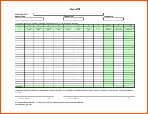 free excel timesheet template employees 6 7 employee timesheet template formatmemo