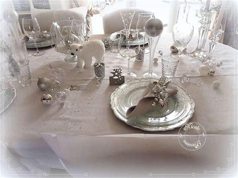 table de noel argent et blanc ma table de no 235 l quot stella polaire quot argent et blanc