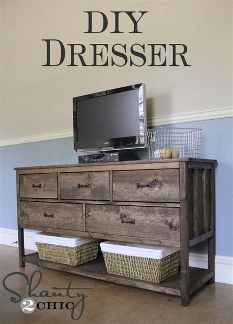 build your own dresser cheap pottery barn inspired diy dresser shanty 2 chic