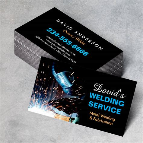 welder business cards templates professional metal welding fabrication contractor business